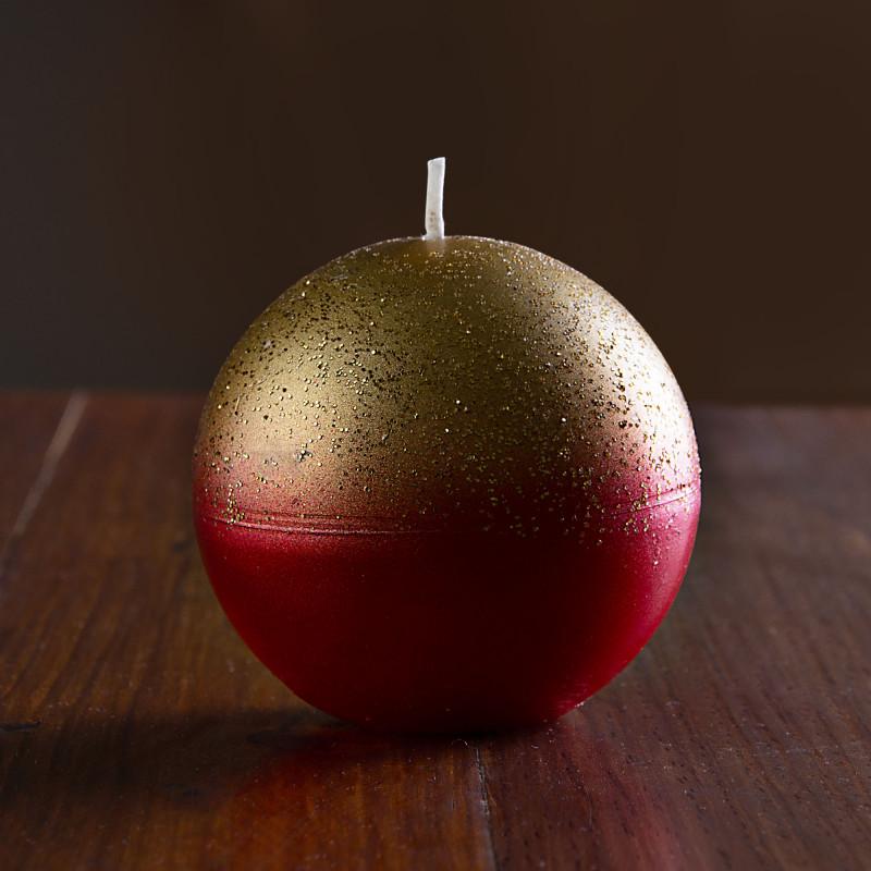 Vela esfera Rojo / Dorado