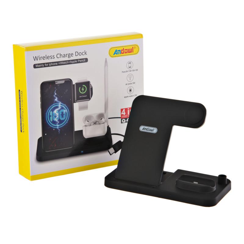 Cargador inalámbrico para celular / Apple watch / audífonos Q-CD60