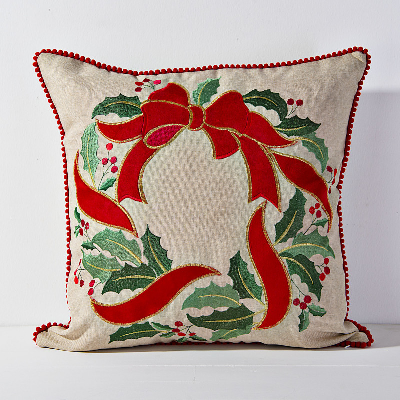 Forro para cojín Corona de Navidad Haus