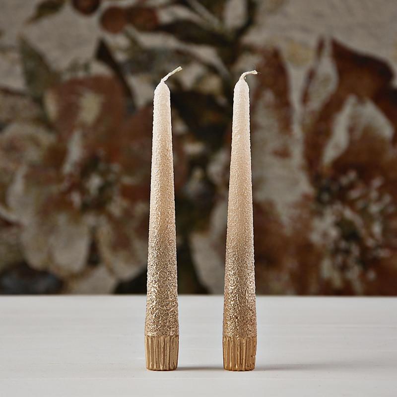 Velas para candelabros Degrade Dorado