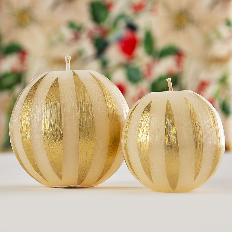 Vela esfera Beige / Dorado Infinity
