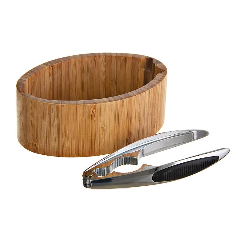 Abridor de nuez con tazón Bamboo