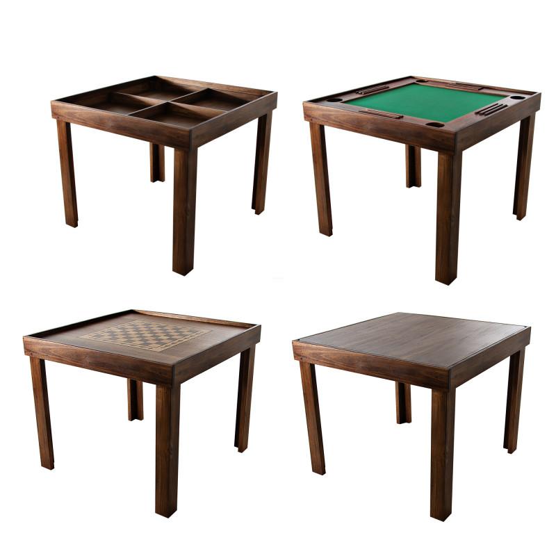 Mesa intercambiable para juegos con tablero 4-en-1