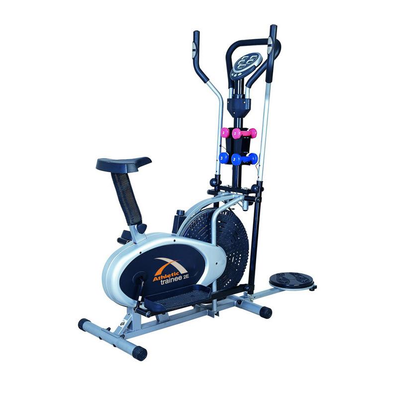 Elíptica Trainee 2E Sistema Inercia 16 kg / 5 funciones / Peso máximo 100kg Athletic