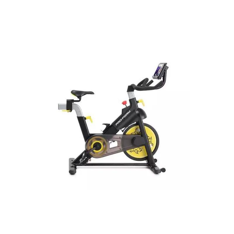 Bicicleta estática 10kg / 16 niveles de resistencia digital / Volante inercia / Peso máximo 250 lbs Tour de France CBC PFEX39420