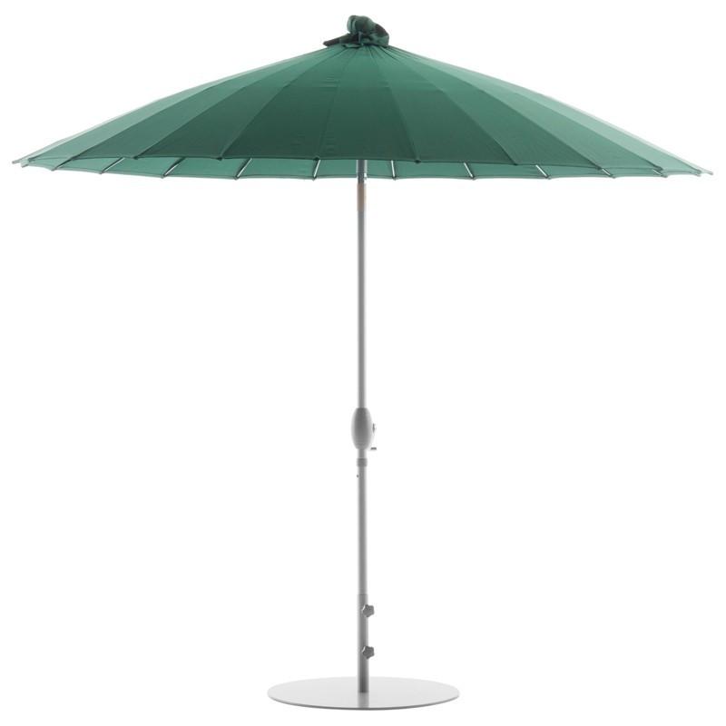 Parasol verde con base
