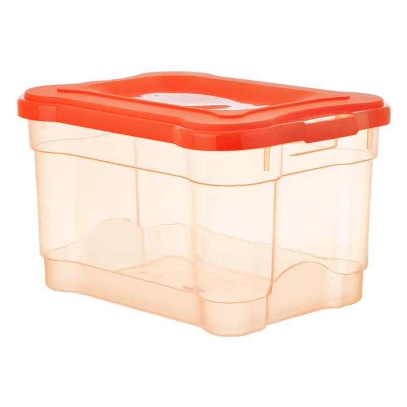 Caja organizadora mediana Estra Plástico Naranja