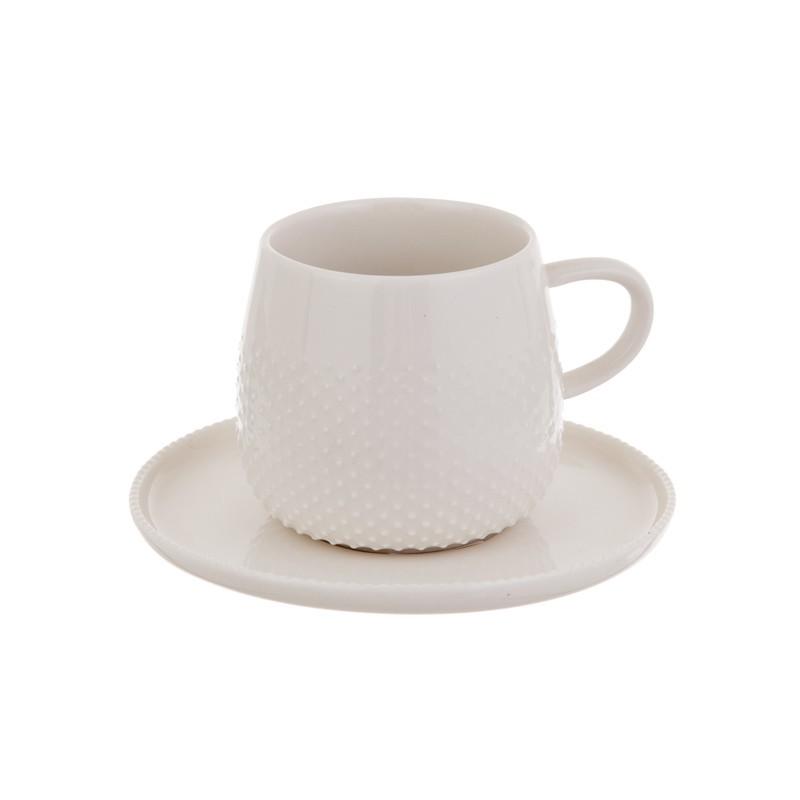 Juego de taza y plato para espresso Raindrop Haus