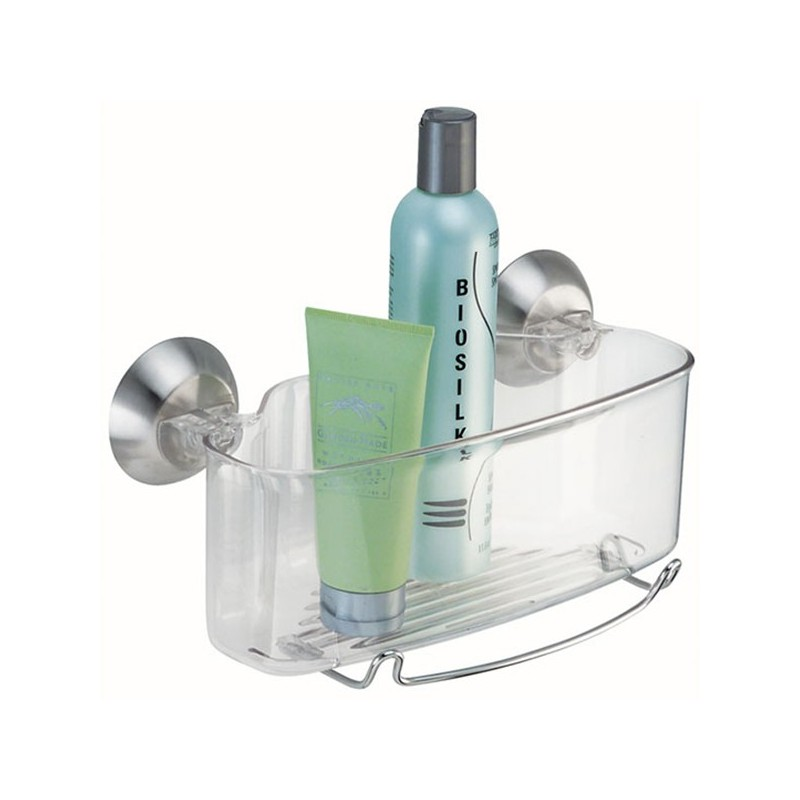 Canasta para baño Succión Clear Forma Interdesign