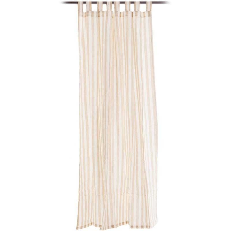 Cortina decorativa Líneas ganchos de tela Haus