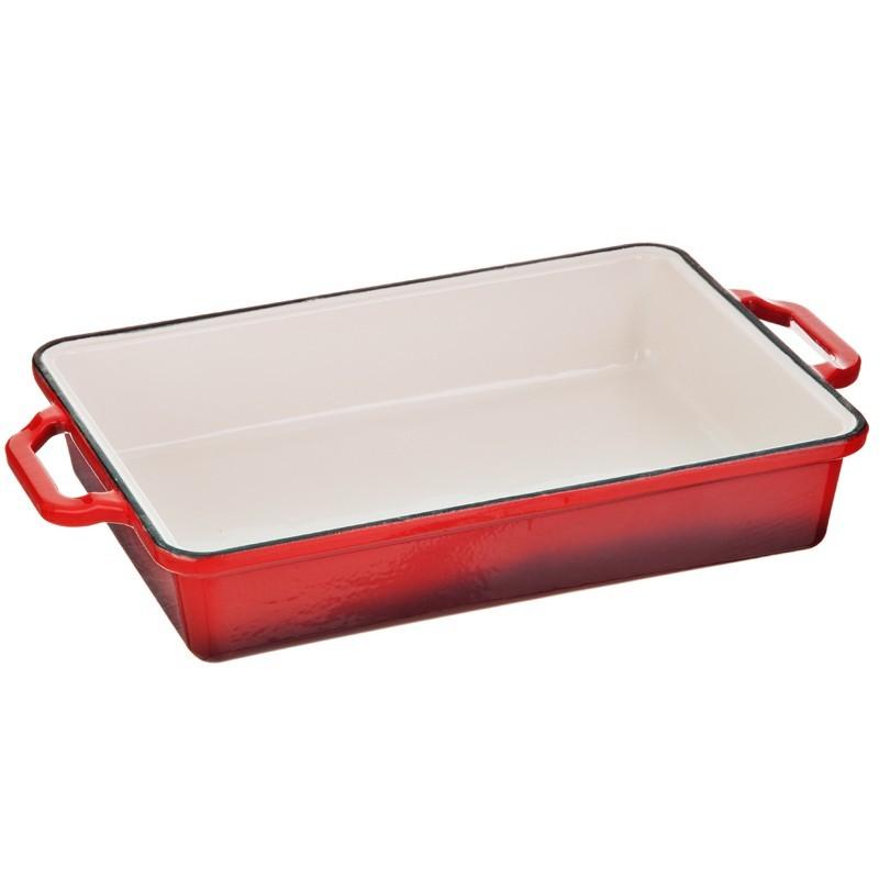 Molde rojo rectangular para lasagna Italian Villa Keilen