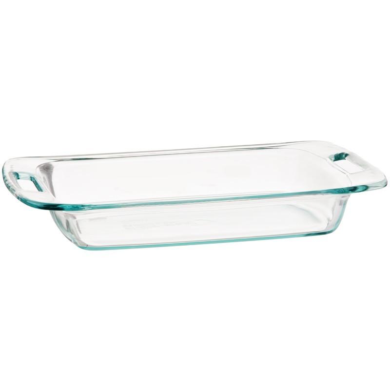 Molde rectangular vidrio para hornear Pyrex