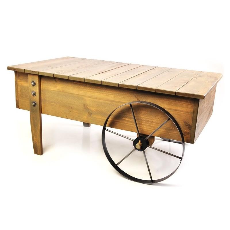 Mesa carreta con rueda 2 Day Design