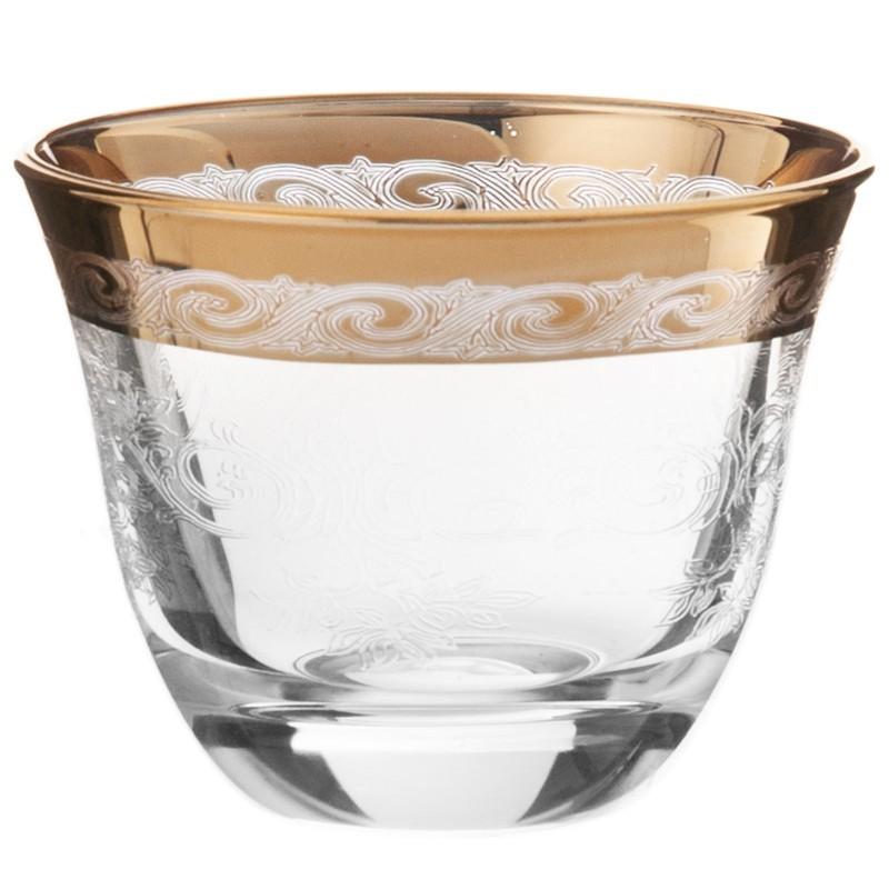 Juego de 6 vasos para licor Allegro Gold Cre Art