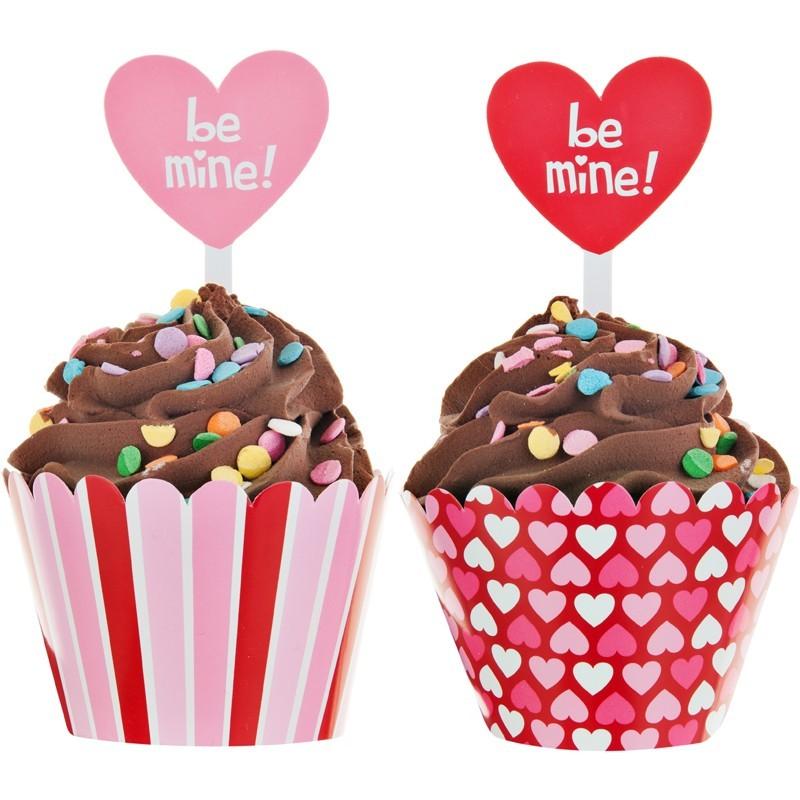 Juego de accesorios para cupcakes Be Mine Creative Converting