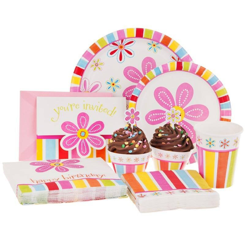 Juego de accesorios para cupcakes Flower Creative Converting