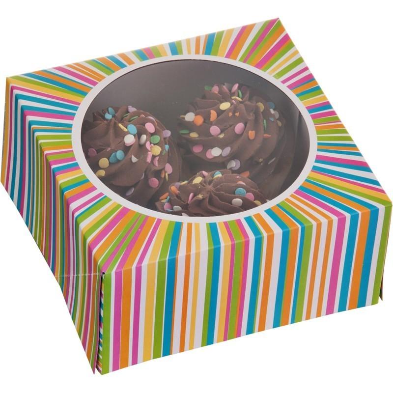 Juego de 3 cajas para cupcakes multicolor Wilton