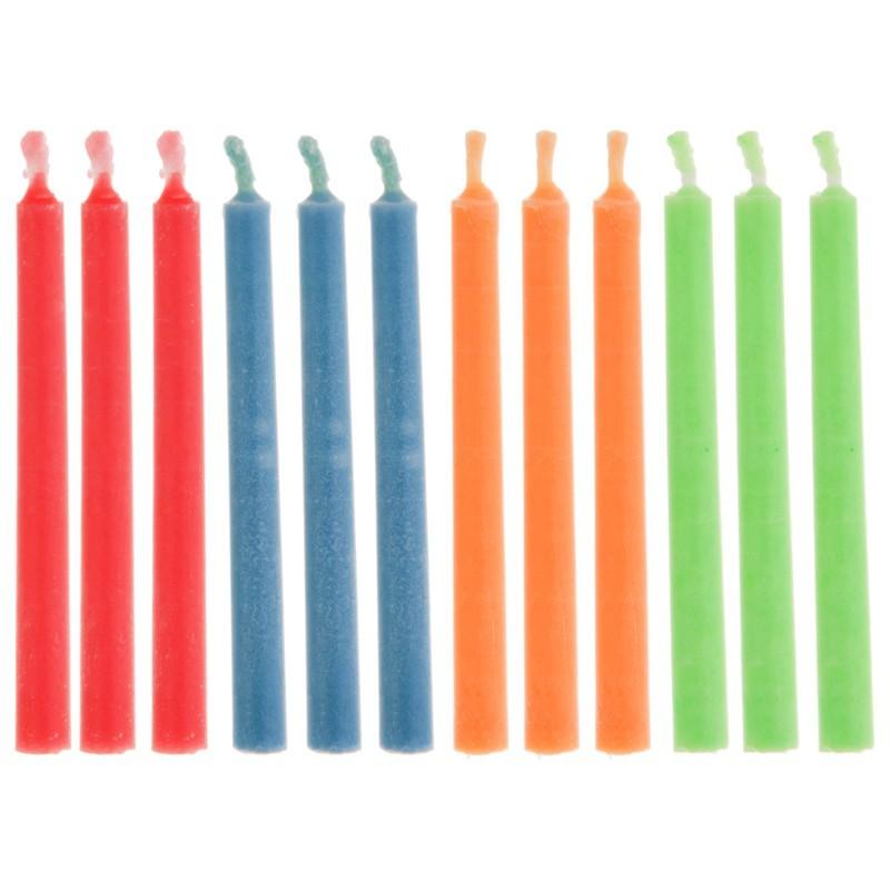 Juego de 12 velas multicolor Wilton