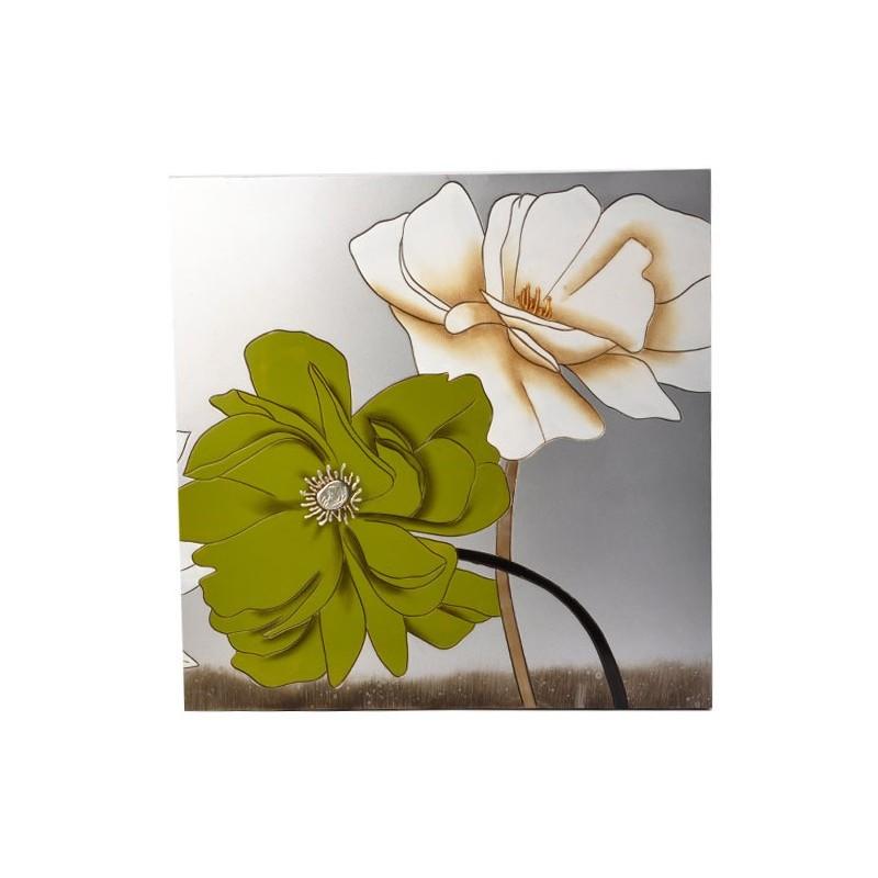 Cuadro Flores Estructura de madera