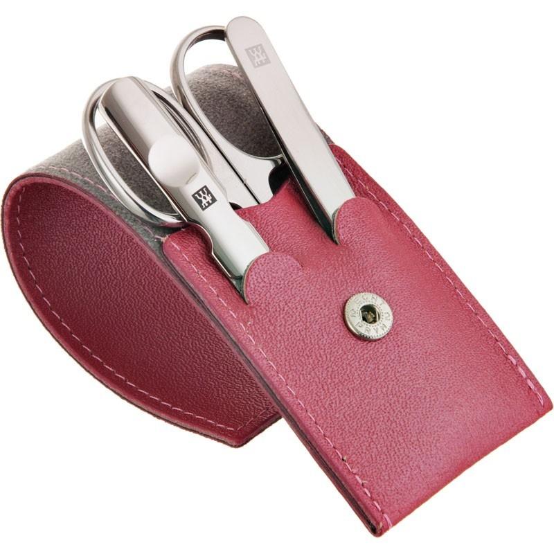 Estuche rosado para manicure 3 piezas Zwilling