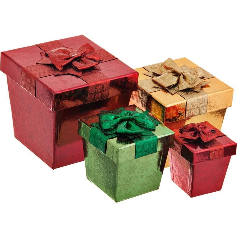 Caja para regalo con lazo