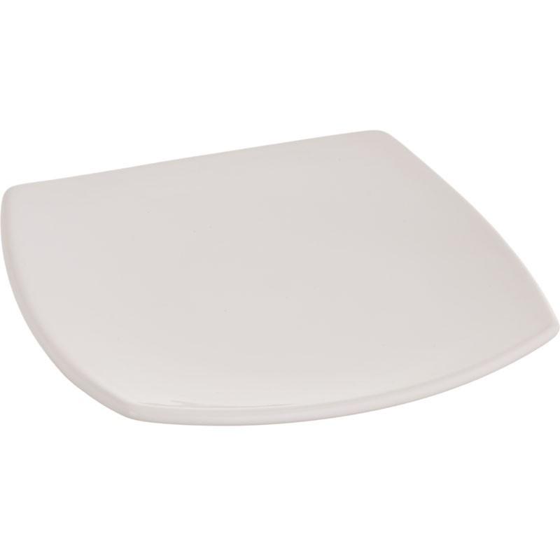 Plato blanco tendido