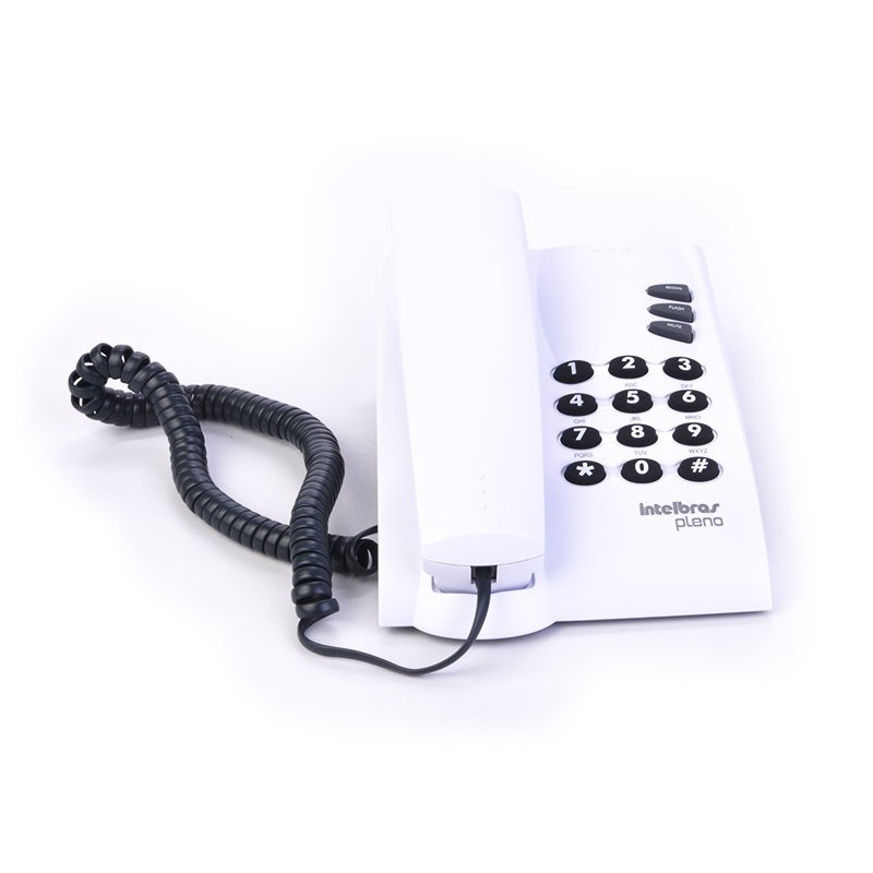 Teléfono alámbrico de mesa 3 funciones Intelbras