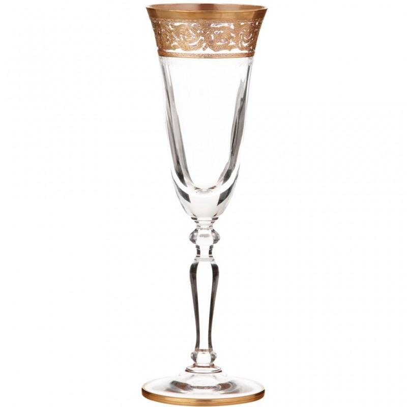 Juego de 6 copas para champagne Allegro Cre Art