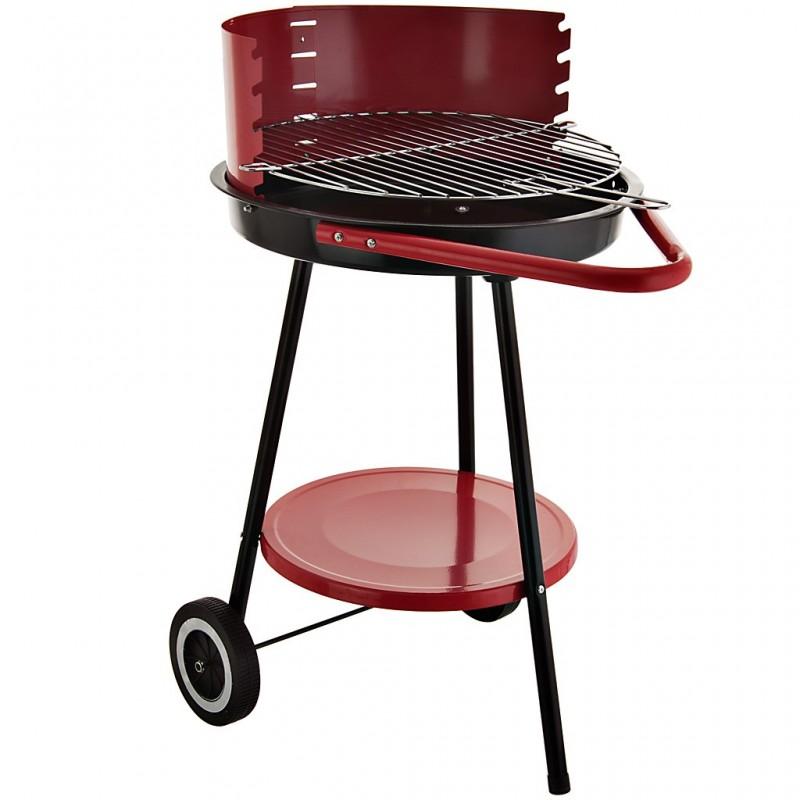 BBQ a carbón con ruedas