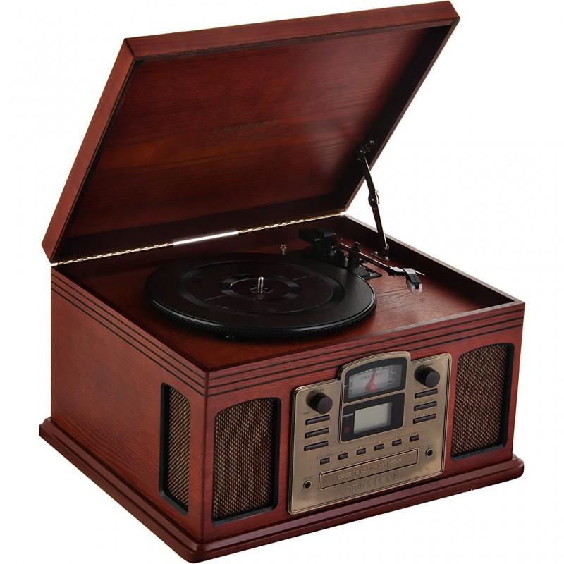 Sistema de audio grabador LP/cassette a CD Crosley