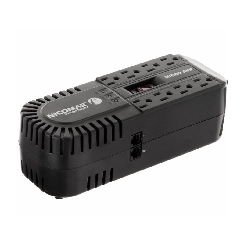 Regulador de voltaje con 8 tomas Nicomar