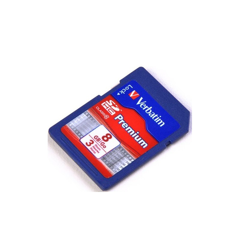 Tarjeta de momoria SDHC de 8GB Verbatim