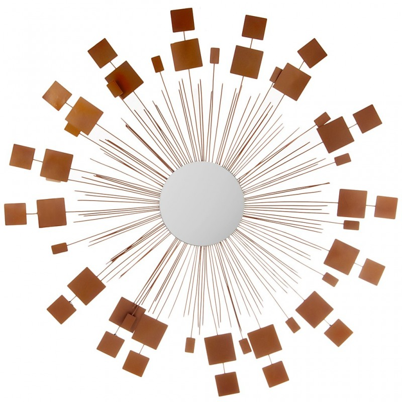 Aplique para pared con espejo 103 cm acero Makadamia