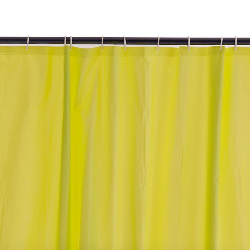Cortina de baño con ganchos 100% PVC Sólido