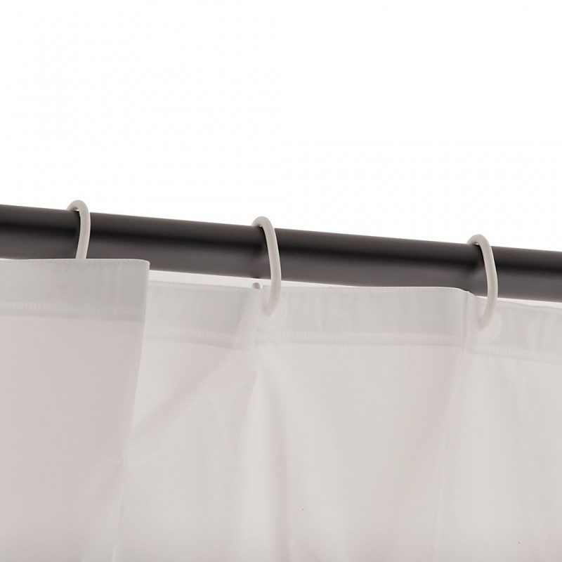 Cortina de baño con ganchos 100% PVC Bolas Hippie