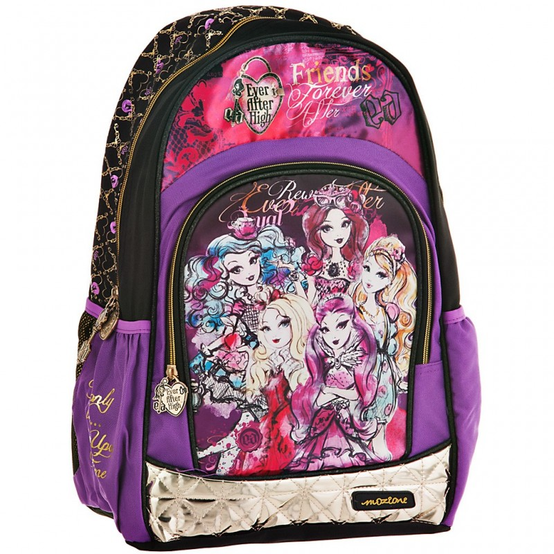 Mochila Ever After High morado/negro