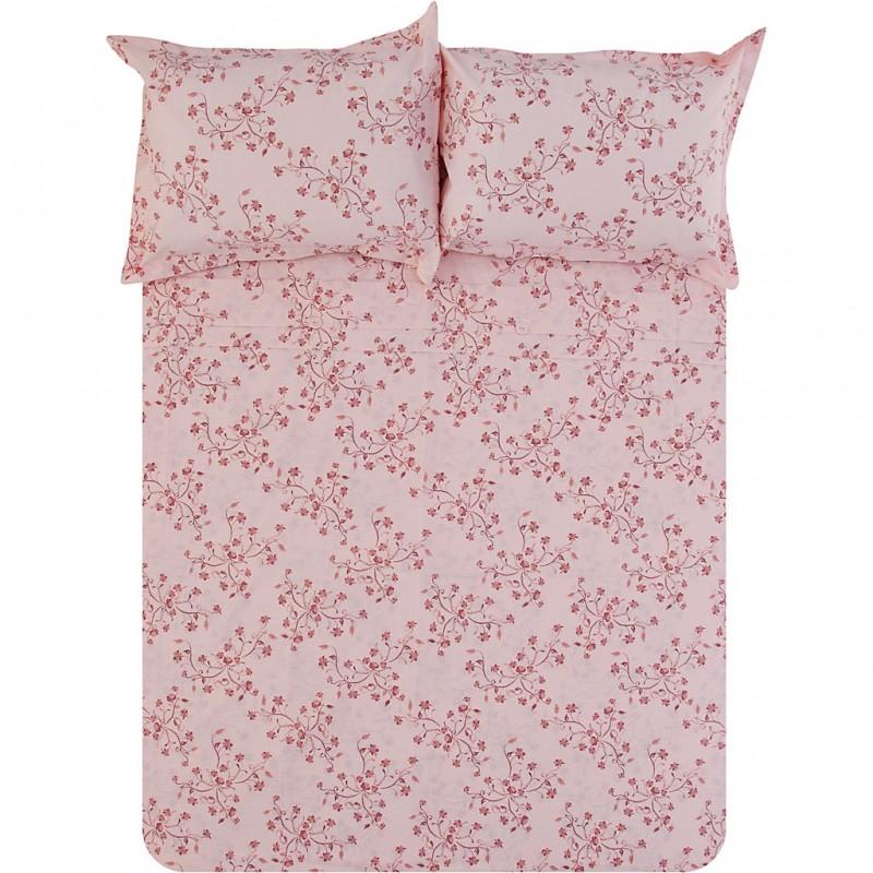 Juego de duvet rosado Flores Sweety Casa Linda