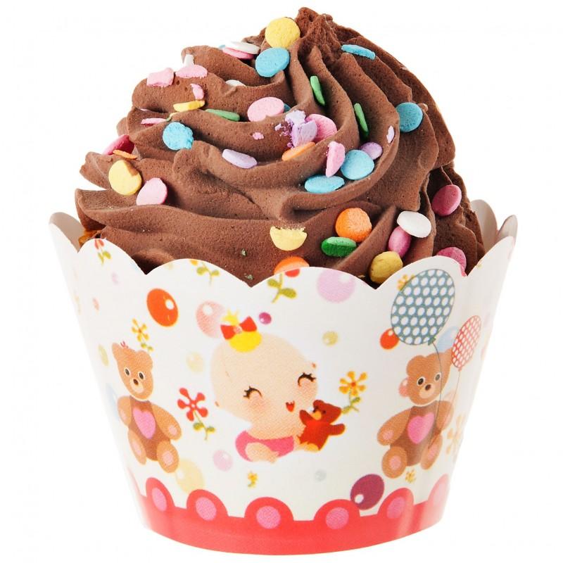 Juego de 25 envolturas para cupcake surtido