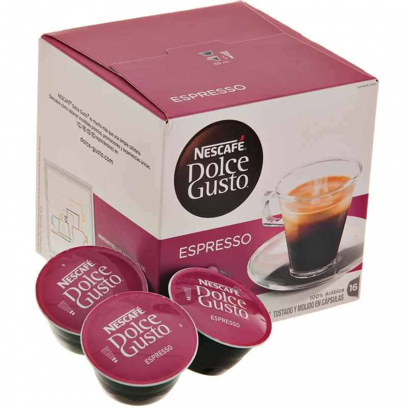 Caja de 16 cápsulas para café Espresso Dolce Gusto