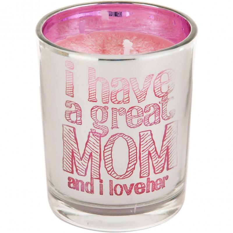 Vela con vaso I have a great mom