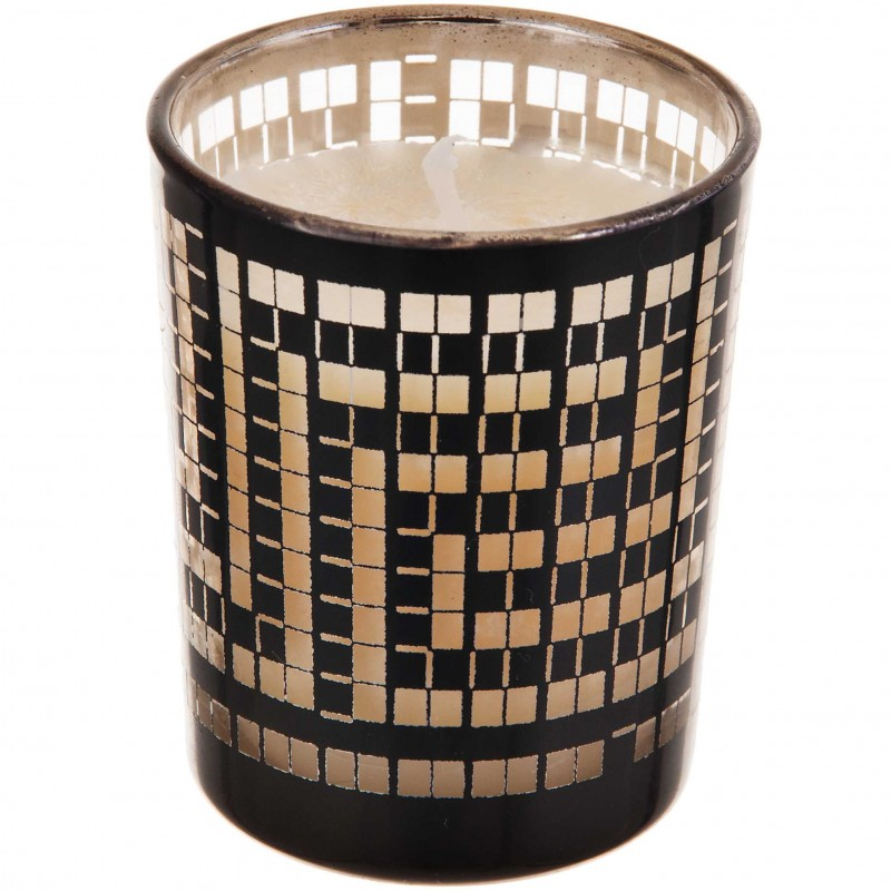 Vela con vaso Dark Maze