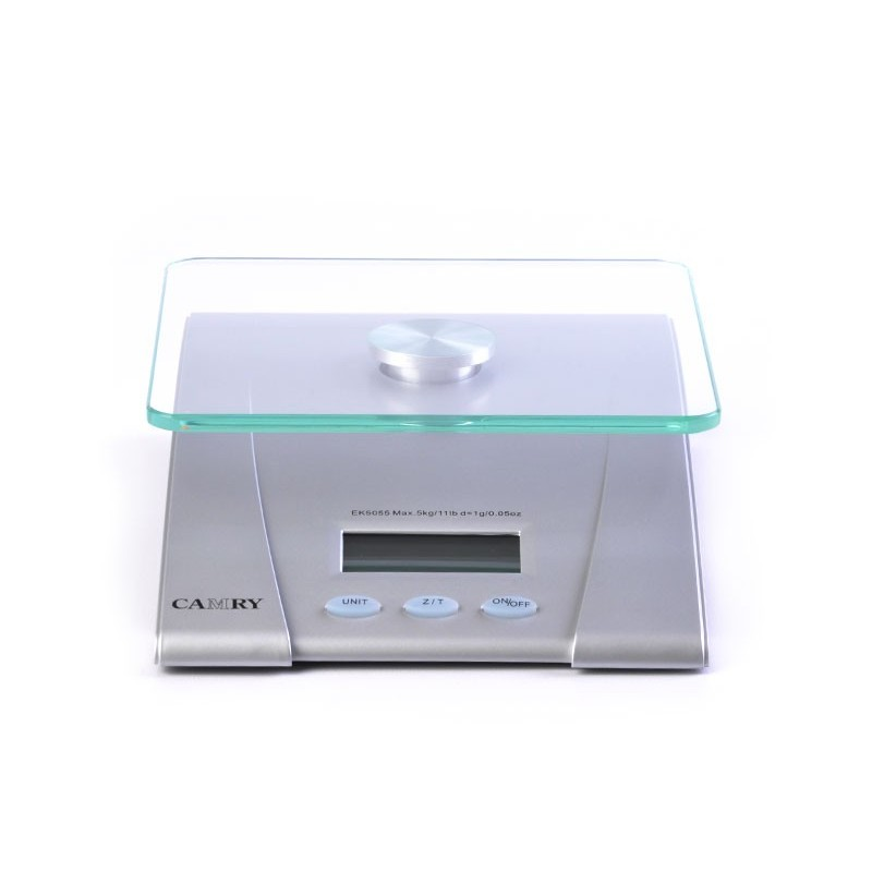 Balanza digital para cocina Camry Plateado vidrio
