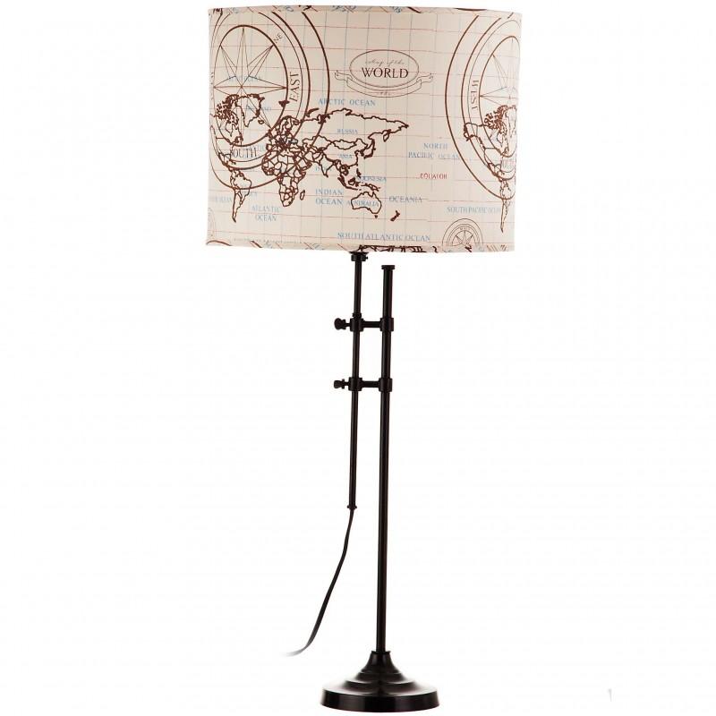 Lámpara de mesa pantalla mapa