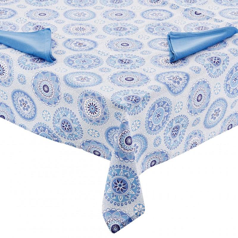 Mantel con servilletas Flores 100% algodón Haus