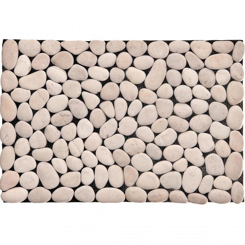 Individual 33x48 cm blanco piedras