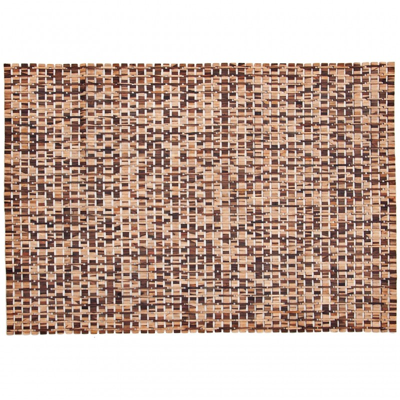 Alfombra 120x170 cm Geométrico madera