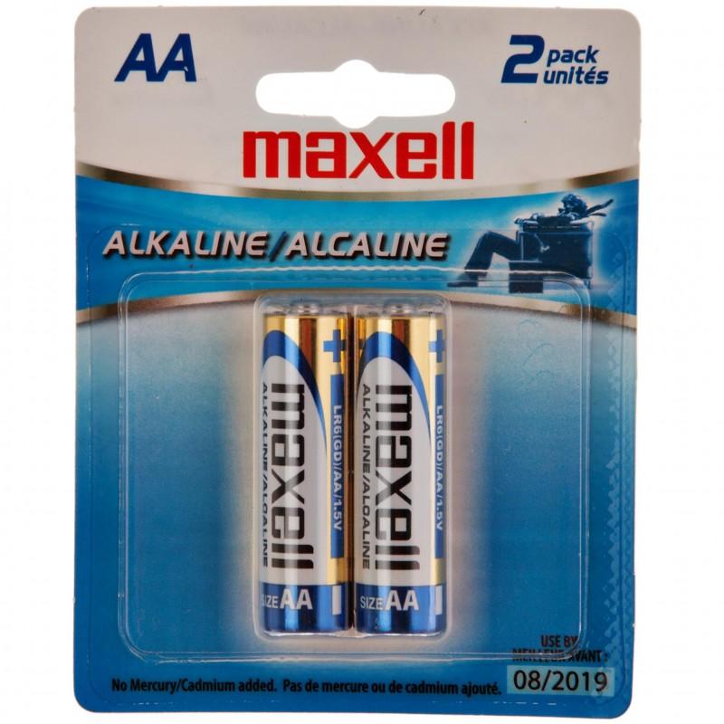 Juego de 2 pilas alcalinas AA Maxell