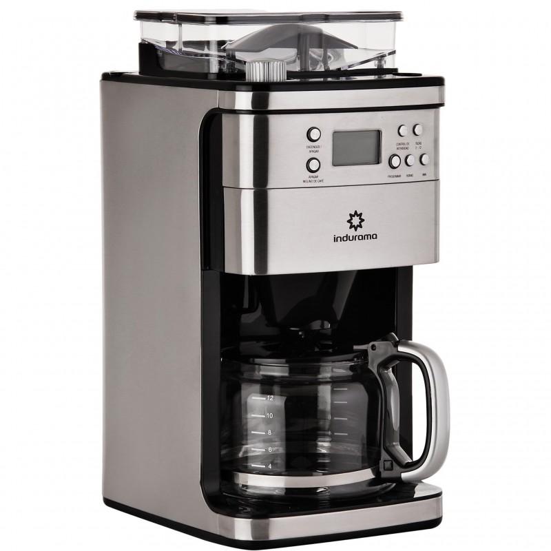 Cafetera con molino de café 1.5L / 200G 750W Indurama