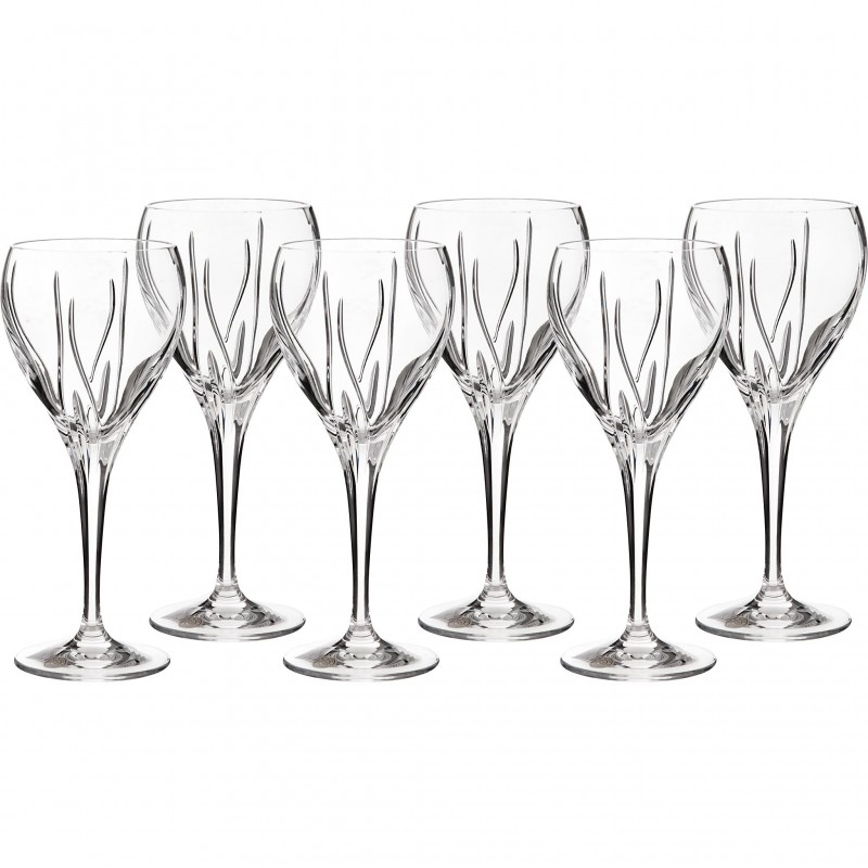 Juego de 6 copas para vino blanco Fiona Hoja 270ml Jihlavske