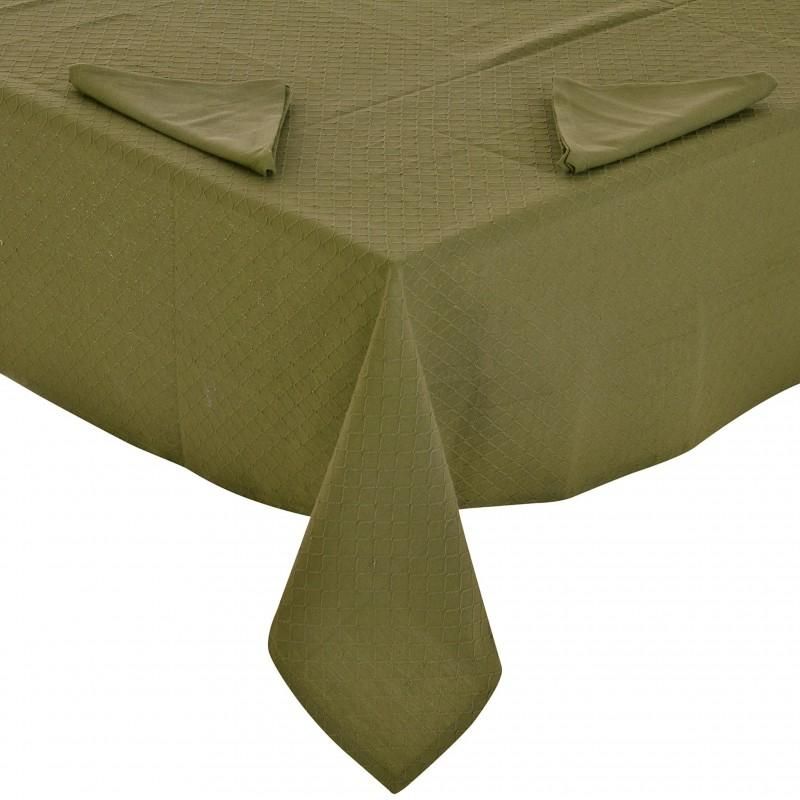 Mantel cuadrado con servilletas para 4-6 puestos Geométrico Haus